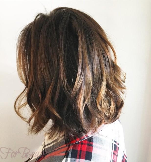 Мелирование балаяж на темные волосы