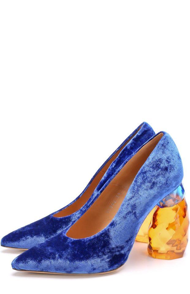 Женская бархатная обувь 2018-2019