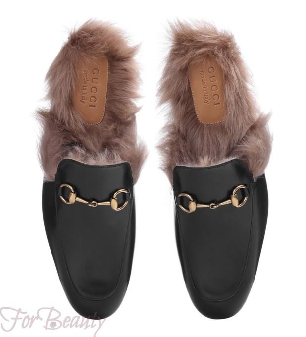 Женская обувь с меховой отделкой 2018