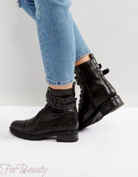 Женская обувь в стиле «Милитари» 2018