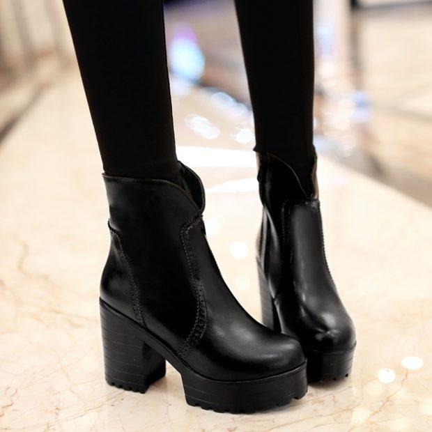 Женская обувь с грубой и рифленой подошвой 2018-2019