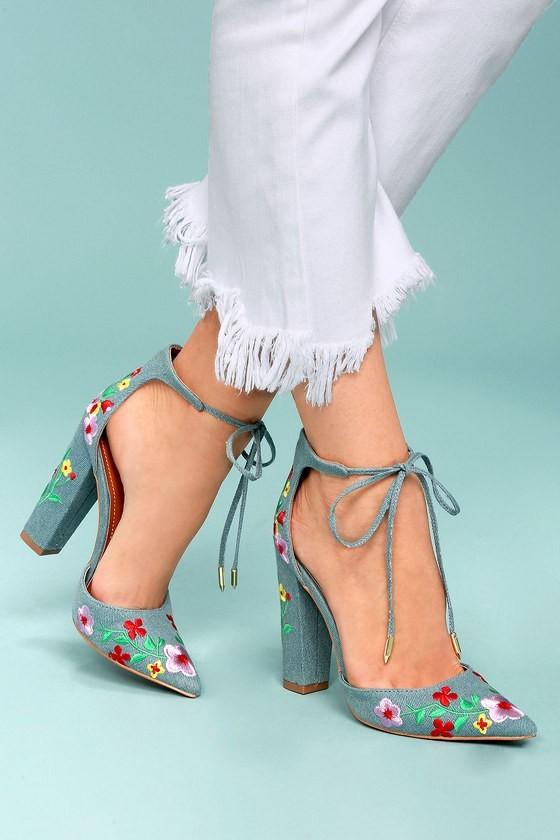 модные туфли на высоком прямоугольном каблуке