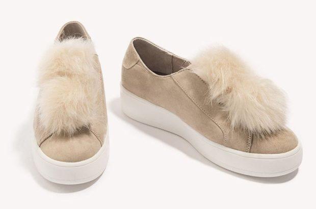 Женская удобная обувь с меховой отделкой 2018-2019 фото