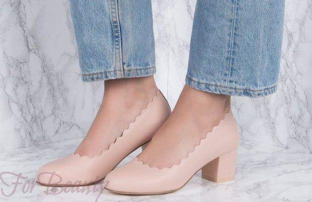 Женская обувь на устойчивом каблуке 2018-2019 фото туфли