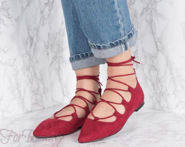 Женская модная обувь со шнуровкой 2020-2021 фото