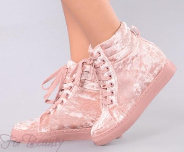 модная женская бархатная обувь 2018-2019 фото