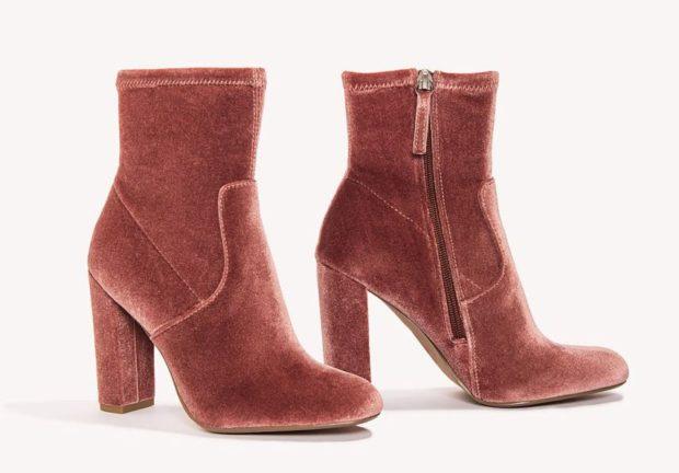 Женская бархатная обувь 2018-2019 фото