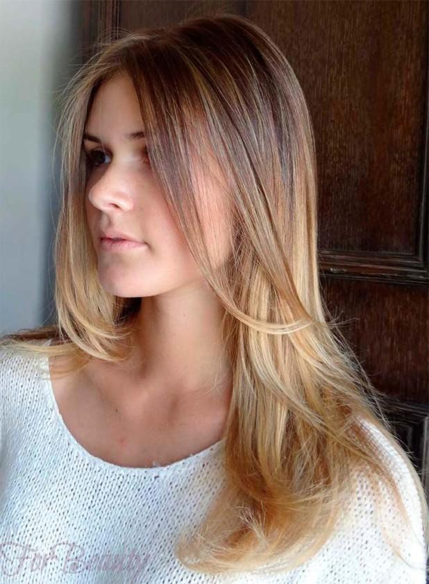 покраска для русых волос 2018 на средние волосы