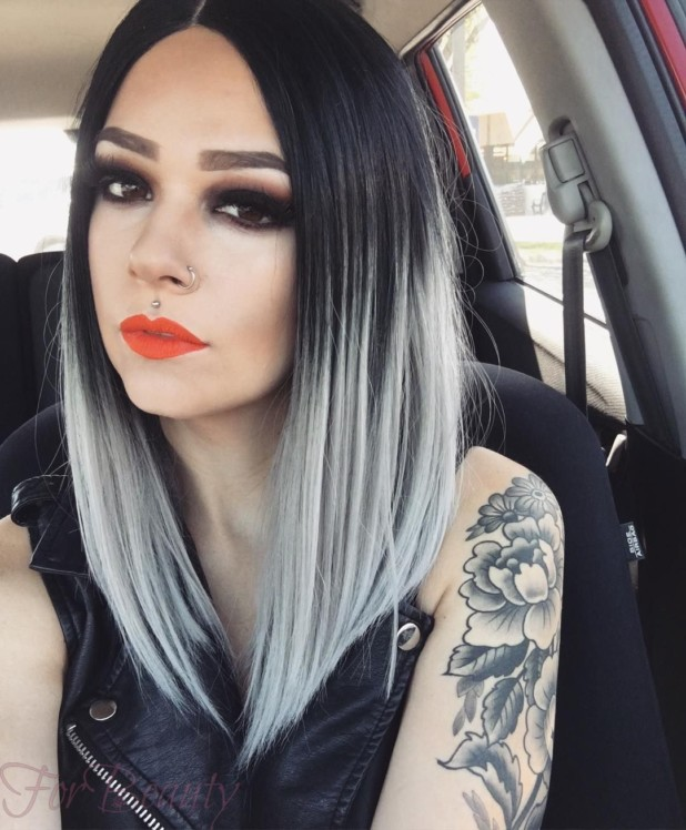 покраска волос для брюнеток 2018 на средние волосы