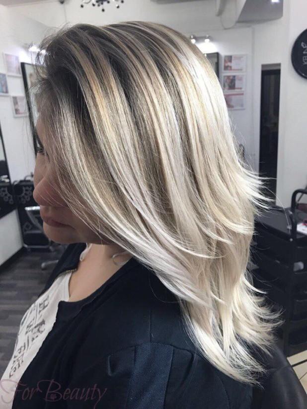 покраска методомброндирования(3D-окрашивание) 2018 на средние волосы