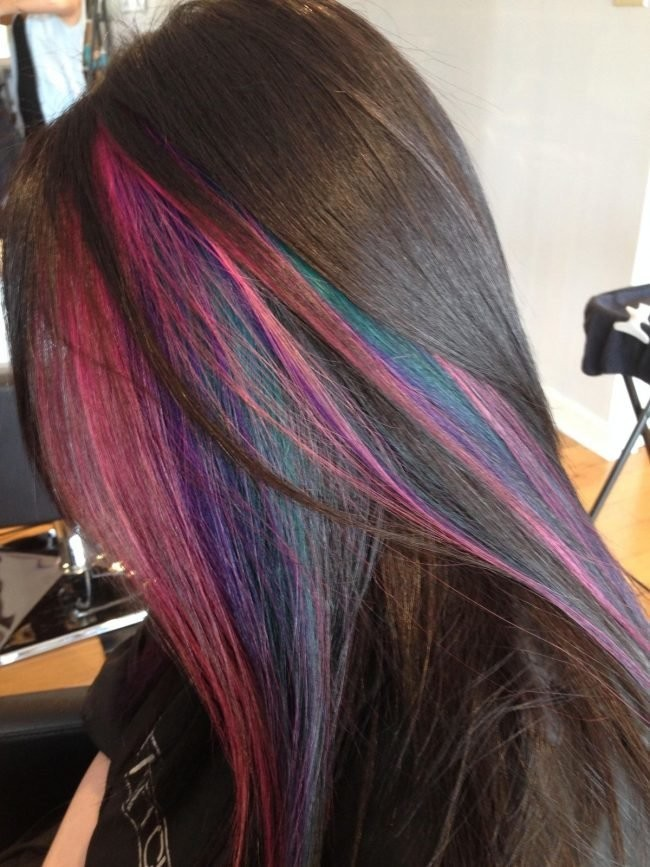 покраска методомколорирование на средние волосы