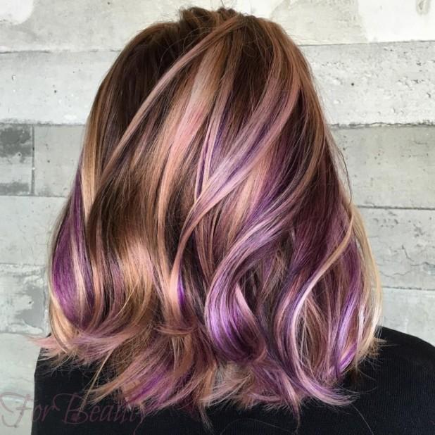 покраска методомколорирование2018 на средние волосы