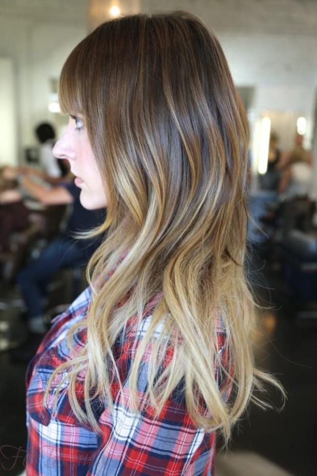 Модная покраска методоммелирование2018 на средние волосы