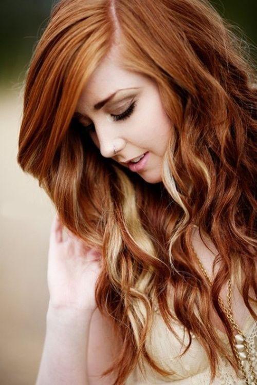 Модная покраска методомколорирование на средние волосы
