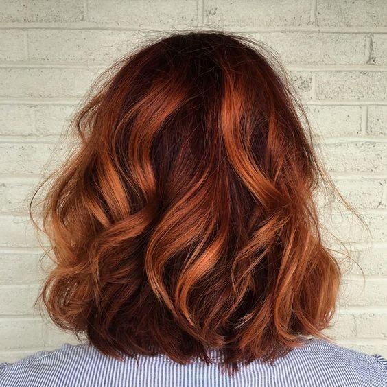 стильная покраска волос для брюнеток на средние волосы