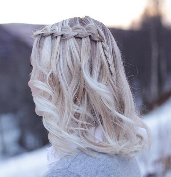 Модная покраска волос для «натуральных» блондинок на средние волосы фото