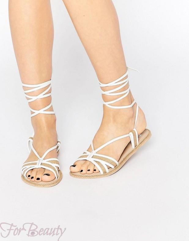 Модная обувь со шнурками и плетениями 2018