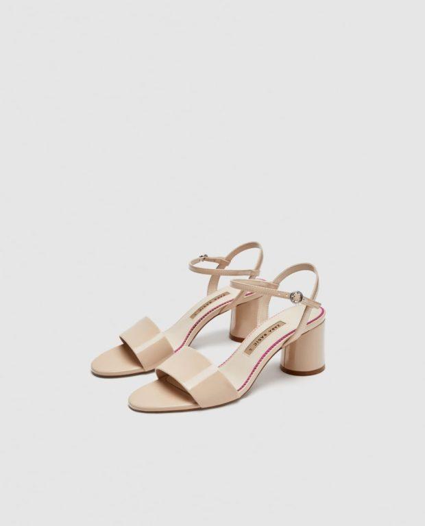 Модная обувь на прямоугольном каблуке 2018-2019