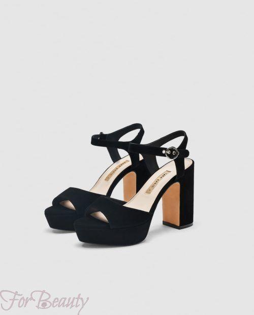 Модная обувь на прямоугольном каблуке 2018