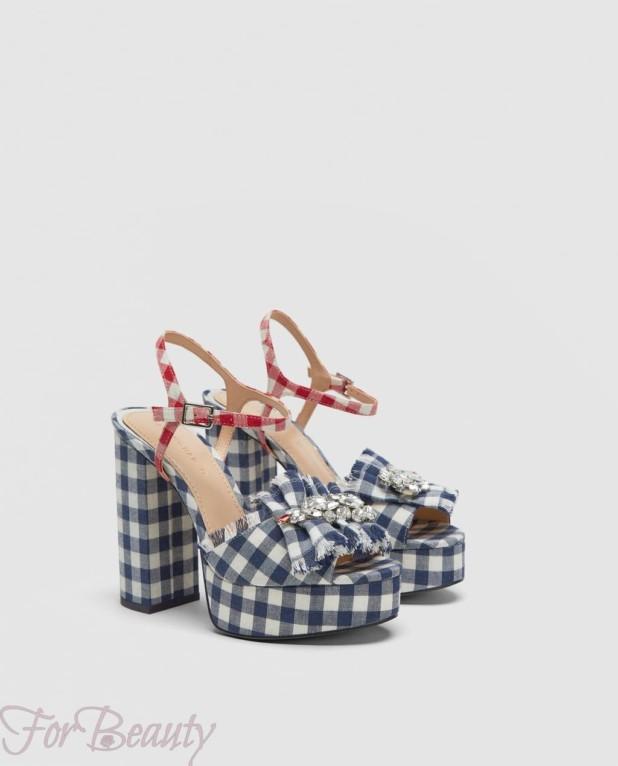 Модная обувь с толстыми каблуками 2018
