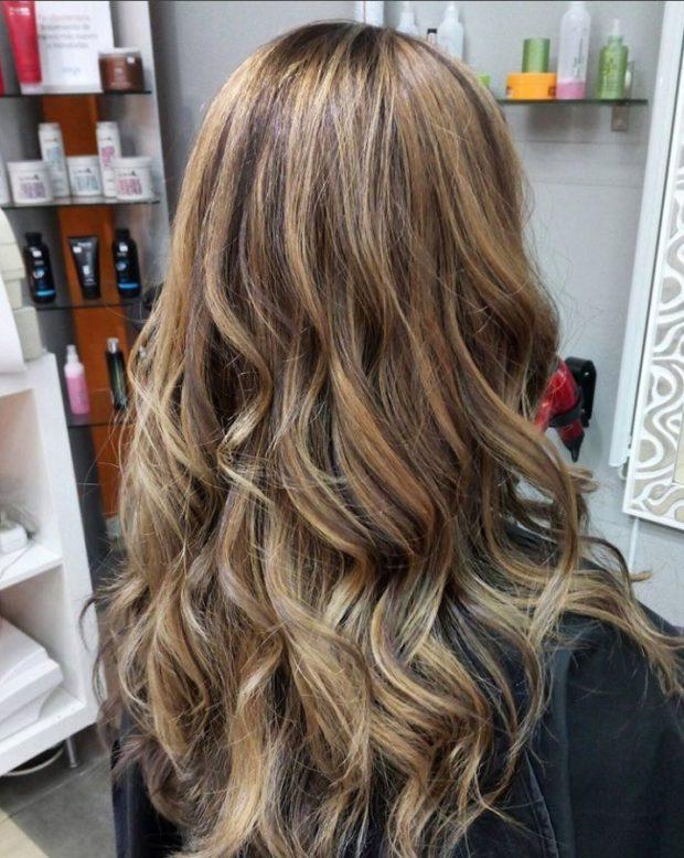 окрашивание на длинные волосы: брондирование