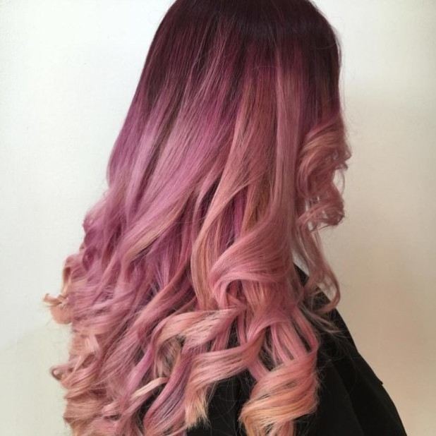 розовое окрашивание на длинные волосы 2018