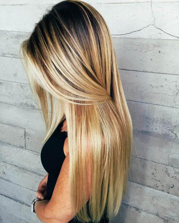 окрашивание на длинные волосы: калифорнийское мелирование