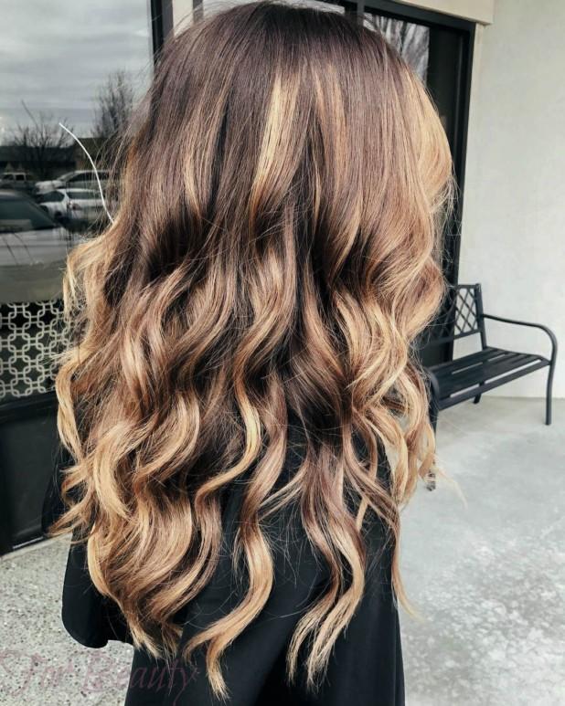 калифорнийское мелирование на длинные волосы 2018