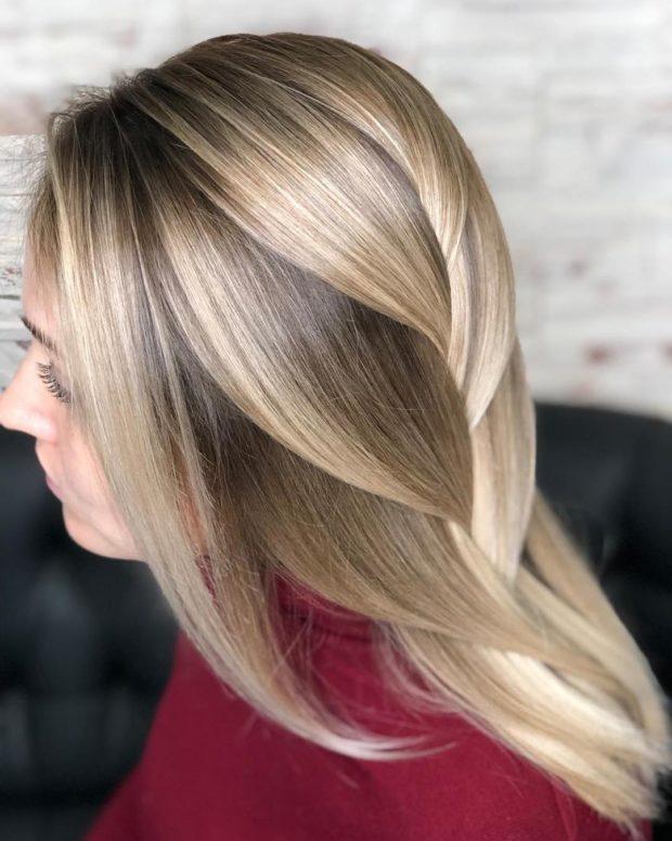 окрашивание на длинные волосы: омбре