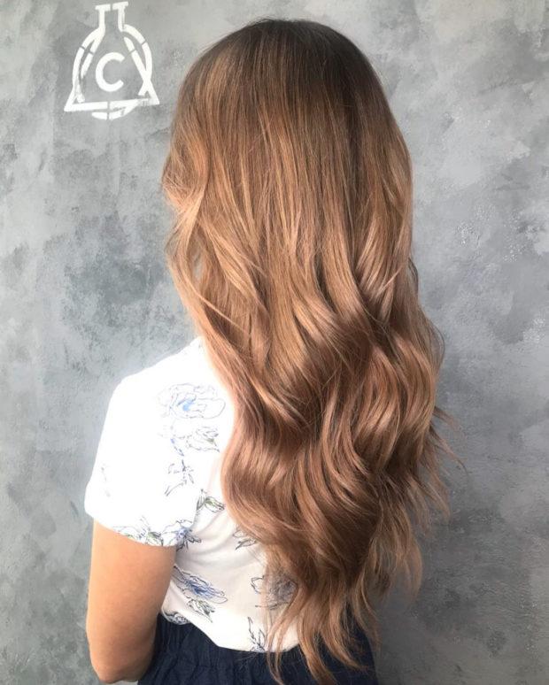окрашивание волос: шоколад