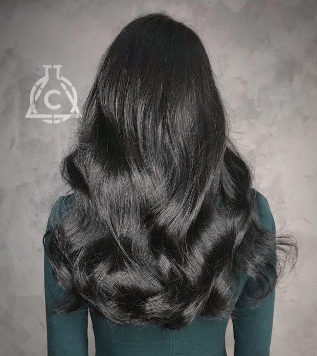 окрашивание волос: черный