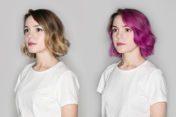 яркие и деликатные цвета на короткие волосы