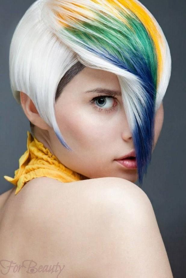 яркие и деликатные цвета 2018 году на короткие волосы