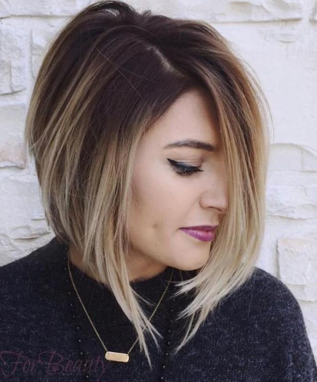 Техника калифорнийскогомелирования(шатуш) 2018 году на короткие волосы