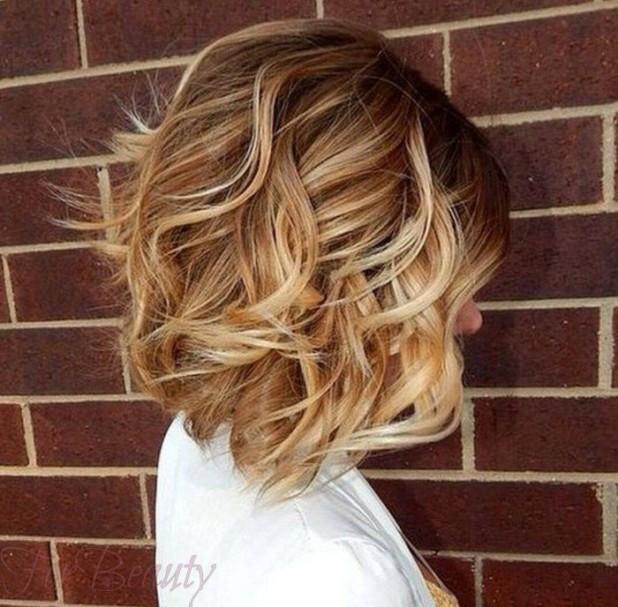 Модное окрашивание волос способомбалаяж2018 году на короткие волосы