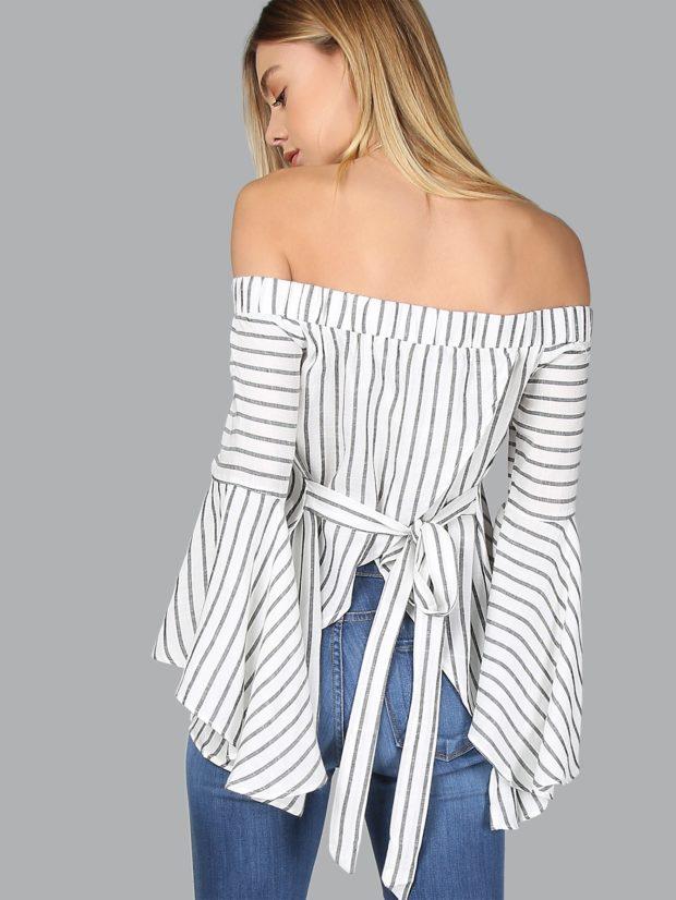 Модные блузки в клетку и полоску 2018-2019 фото новинки