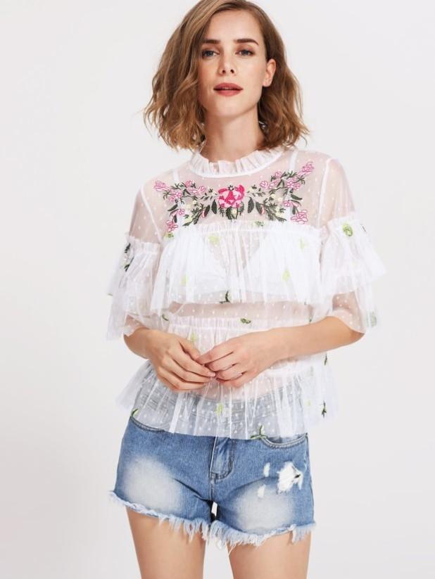 стильные прозрачные блузки