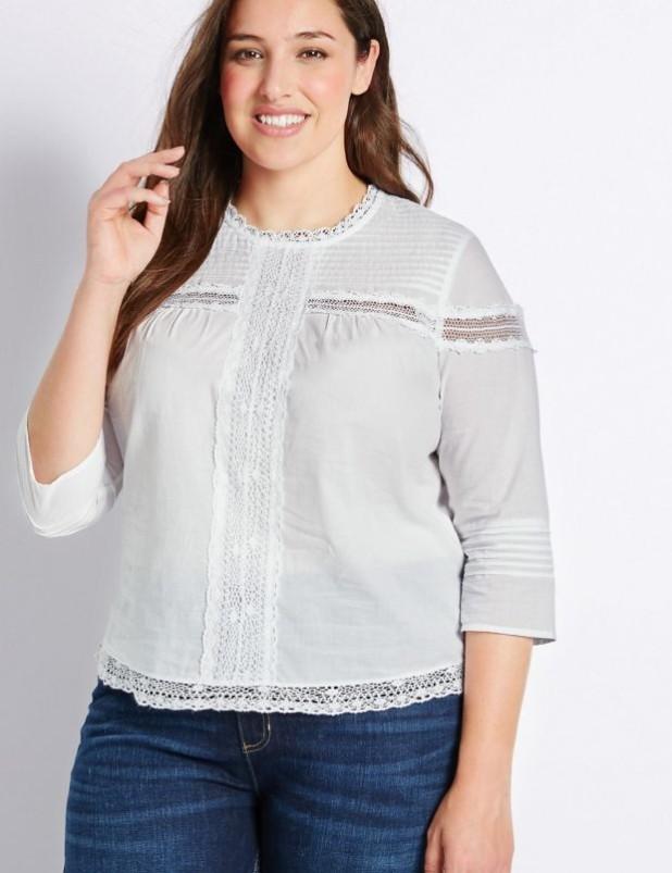 Модные блузки для полных 2018-2019