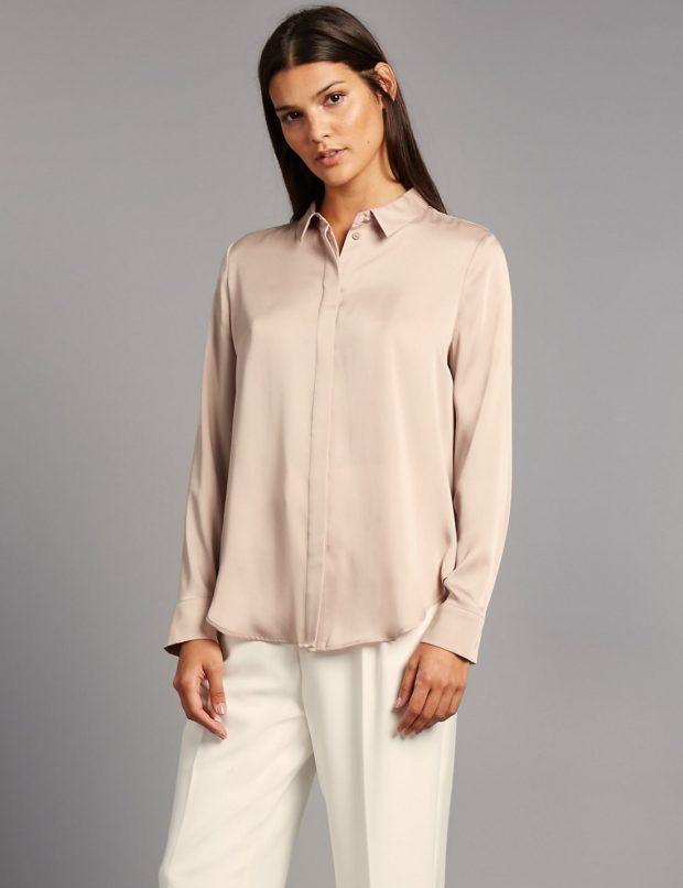 Модные шелковые блузки 2018-2019 фото новинки