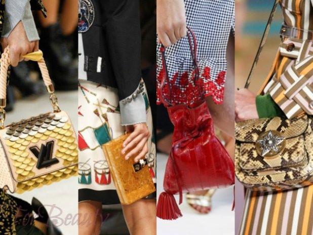 Модная цветовая палитра в сумках осень зима 2017 - 2018