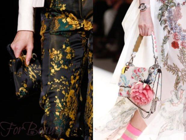 Модная цветовая палитра в маленьких сумках осень зима 2017 - 2018