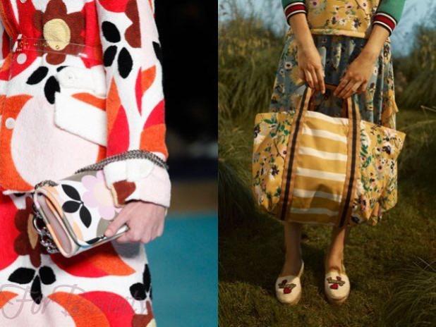 Модная цветовая гамма в сумках осень зима 2017 - 2018