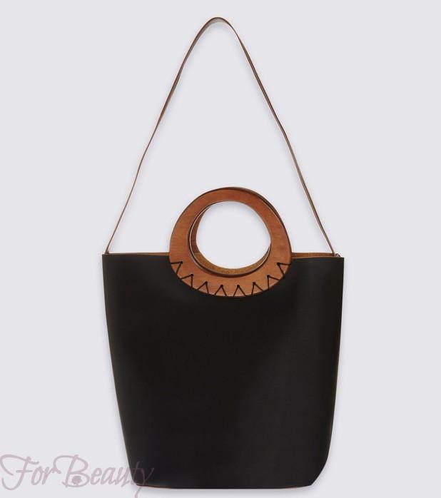 стильные черные сумки осень зима 2017- 2018