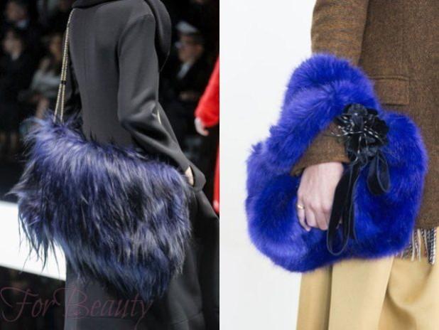 Меховые модные сумки осень зима 2017-2018