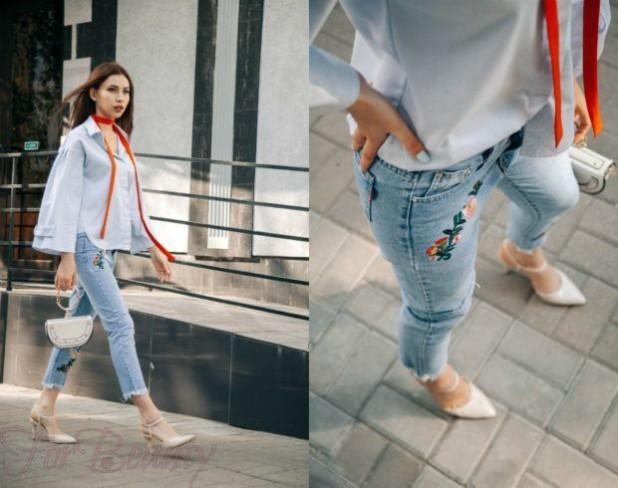 Модный джинсовый лук 2018 фото