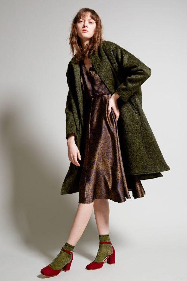 зеленое пальто под платье