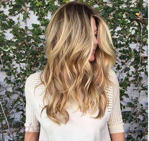 стильное брондирование на длинные волосы 2018-2019  фото