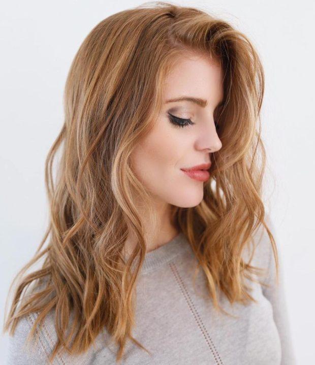 окрашивание на длинные волосы: колорирование карамель
