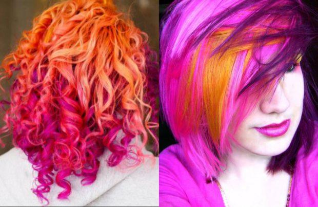 Искусственные, яркие и деликатные цвета на короткие волосы