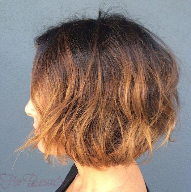 Модное окрашиваниеомбрена короткие волосы фото